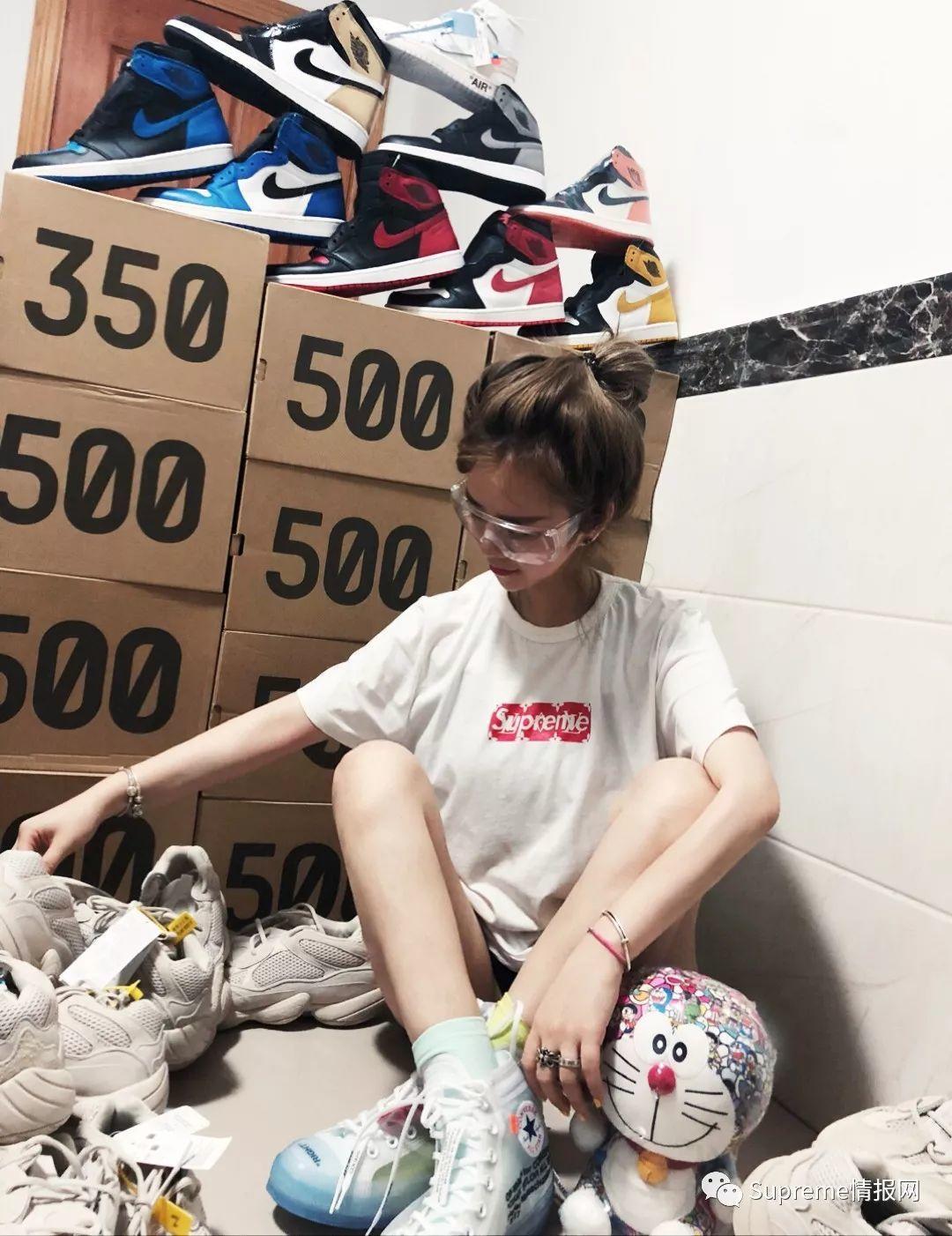 你一个女生,20多万的球鞋买来干嘛??