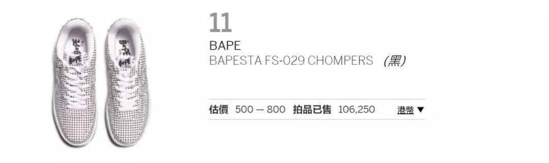 Bape20周年BAPESTA夜光限定曝光,今日开启限量发售!