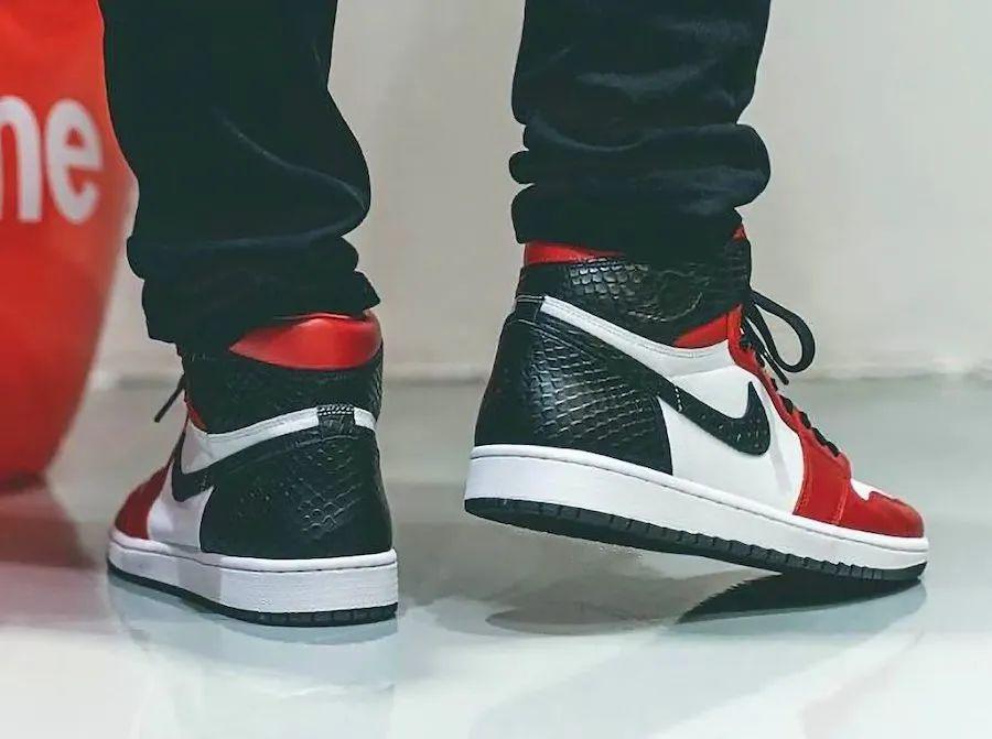 设计头秃了:Air Jordan 1芝加哥蛇皮拼接,限量发售确认!