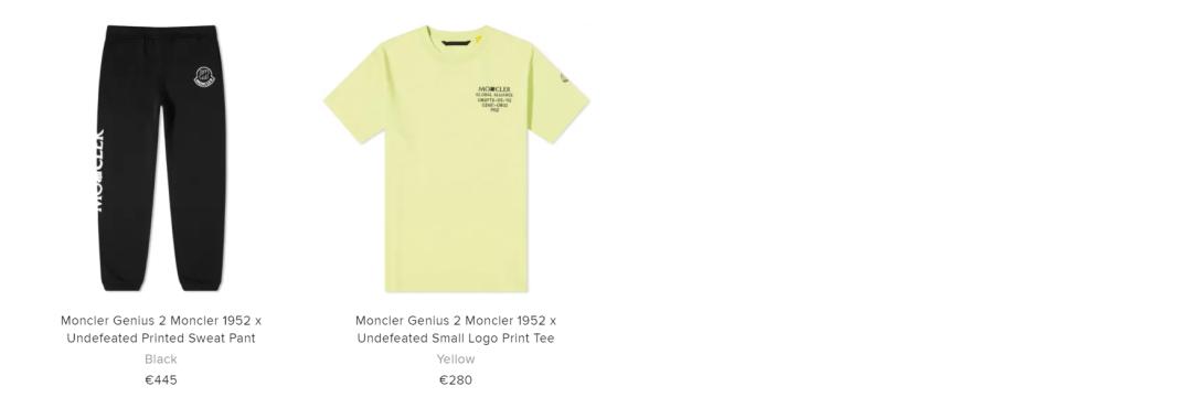 最贵系列?UND x Moncler联名系列曝光,官网开启限量发售!