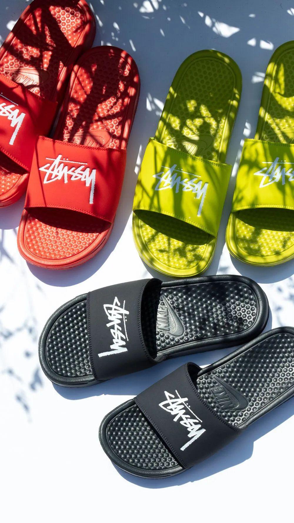 秒售罄?Stussy x 耐克AF1材质拖鞋配色突袭,今晚限量发售!