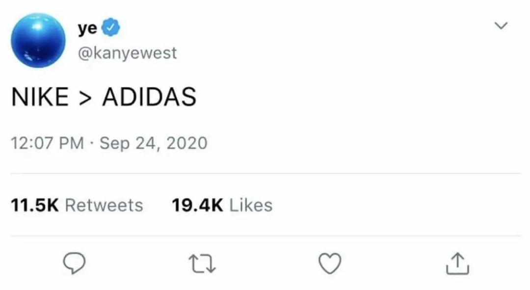 学习蟑螂侠?Kanye又退网?晒Nike上瘾,气死阿迪达斯?