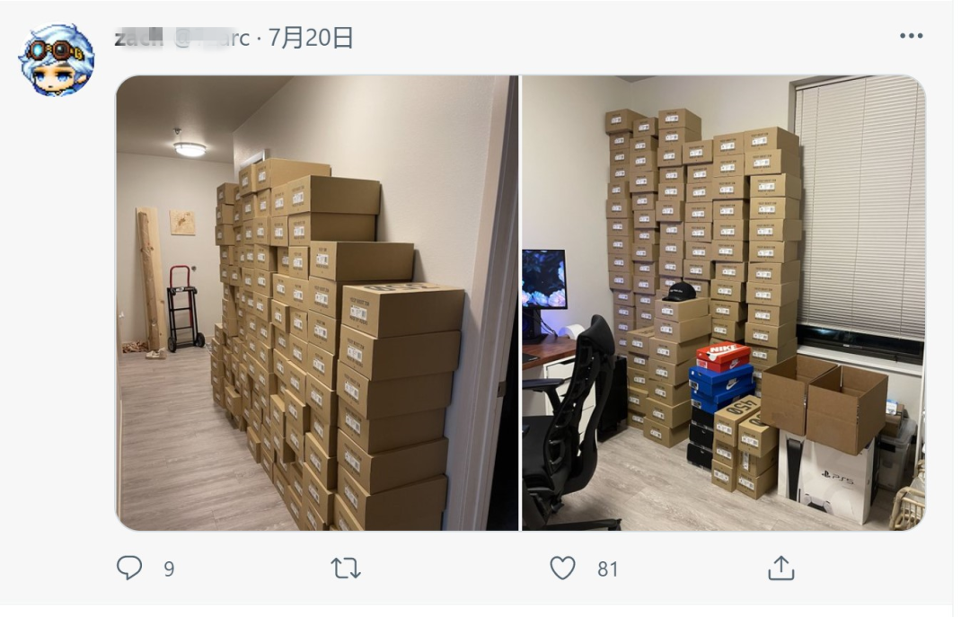 突袭内幕!推特华人网友一台电脑抢走100多双倒勾AJ1,轻松赚走140万??