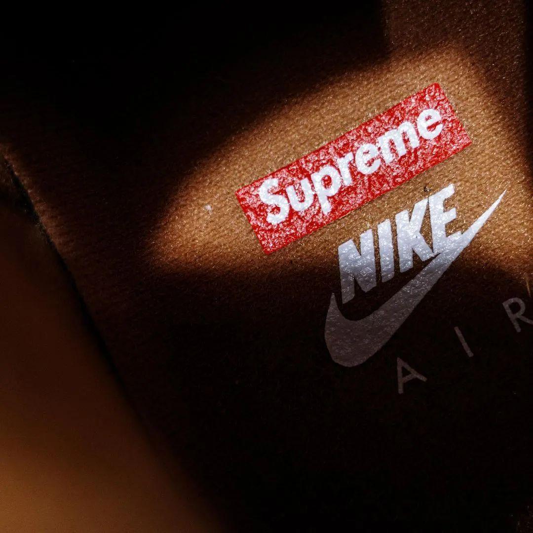 神仙打架?Supreme x 耐克AF1联名小麦色无码流出,确认发售!