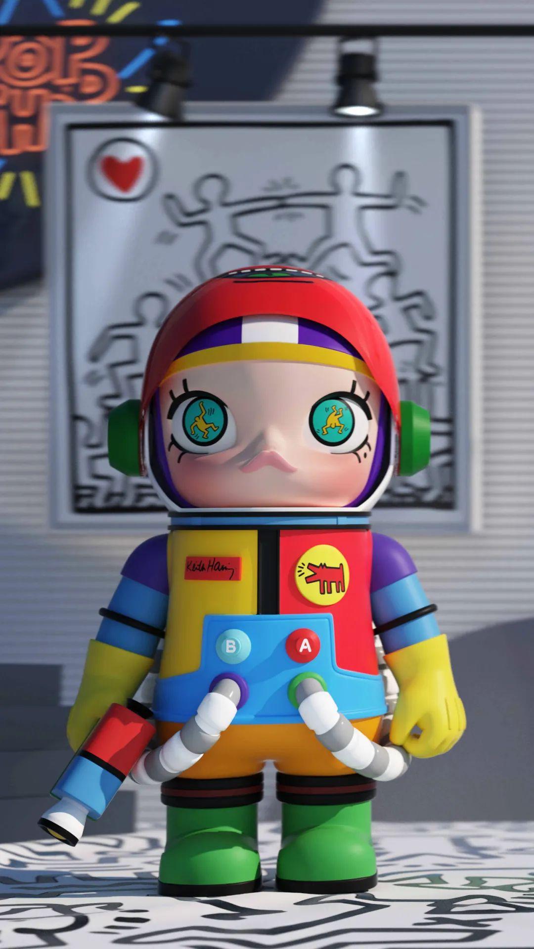 突袭预警!泡泡玛特SPACE MOLLY初代「艺术家」联名款明天抽签发售,快锁定!